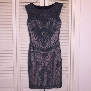 Alyce Black Label Steel Gray Sequin Dress